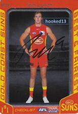 Signed Tom Lynch Gold Coast Suns Autograph on 2016 Teamcoach B&F Card