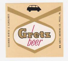 Gretz Beer Label
