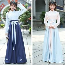 Lady Hanfu Dress Chinese Traditional Costume Wrap Front Shirt and Skirt Set Suit
