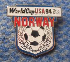 TEAM NORWAY WORLD CUP SOCCER FOOTBALL FUSSBALL USA 1994 PIN BADGE