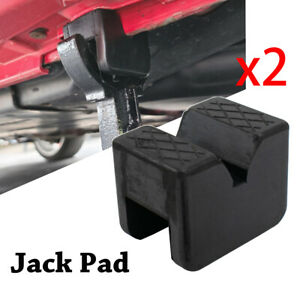 X2 Rubber Axle Jack Stand Pad Adapter Frame Rail Protector Slotted 2-3 Tons AU