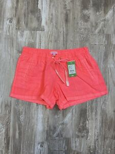 Lilly Pulitzer Pink Sun Ray Pull On Elastic Waist Beach Shorts Coral M NWT
