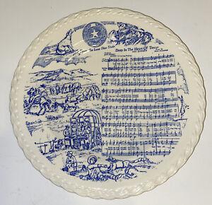 "Vernon Kilns 1941 ""Deep in the Heart of Texas"" Plate Blue Nice"