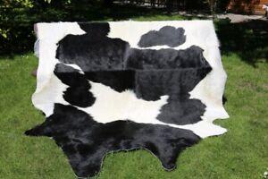 Cowskin No. 9 Black/White Cow Skin Cowhide Bullhide 281x194 CM