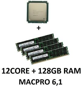 Intel Xeon e5-2697v2 12 Core 2,7 GHz CPU + 128GB 1066 MHz RAM Apple MacPro 6,1