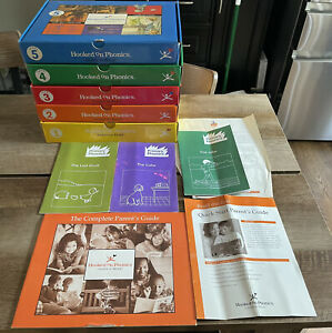 Hooked on Phonics Learn to Read Kits Level 1-5 Complete Set Cassettes Books NEW