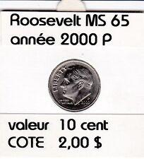 rooseveld  10 cent  2000 P  voir descrition