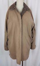 Vintage London Fog Microfiber Brushed Sueded All Weather Jacket Coat Womens M