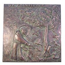 Bronce relief Francisco de Asís 25 cm * 25 cm