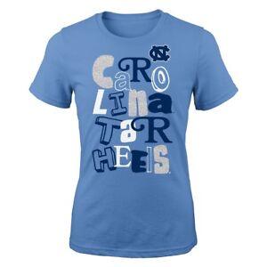 "North Carolina Tar Heels NCAA Girls Light Blue ""Marquise"" Fashion T-Shirt"