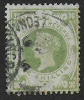 QV Jubilee 1s.Dull Green (SG211).  FU With Good Appearance.  Cat.£75.  Ref.0842