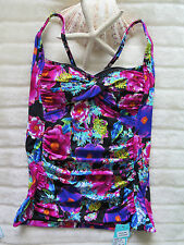 Seafolly Paradiso Seps Ladies10 AUS Twist Front Convert Singlet Black RRP$139.95