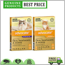ADVOCATE Spot on Heartworm Worm and Flea treatment for Cats 6 Doses