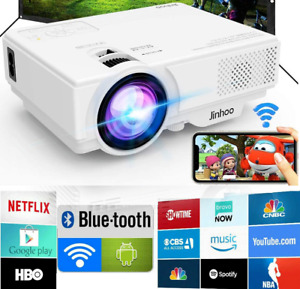 🎥Smart Android 7.1 Home Theater Projector Full HD 1080p Wifi BT Video Movie New