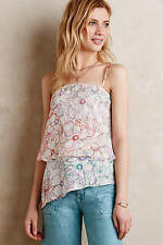 NWT Anthropologie Maeve Tiered Silk Tank L