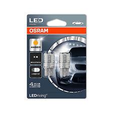 2x Genuine Osram Amber LEDriving Indicator Bulbs 2.5w W21W Wedge [7705YE-02B]