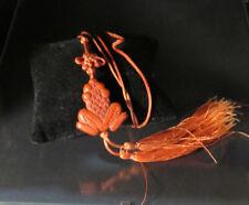 pendentif en forme de grenouille, en laque rouge Chinois Chine XIXè siècle