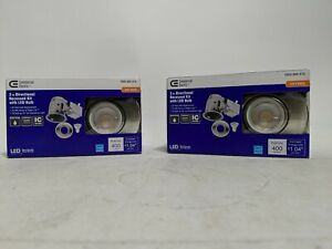 """Pair of Commercial Electric 3"""" Directional Recessed Kit W/LED Bulb"""