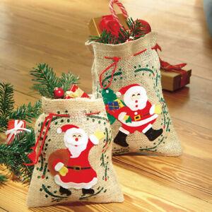 Nikolausbeutel Weihnachtsbeutel Geschenkbeutel Weihnachten Verpackung Jutebeutel
