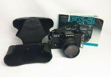 Vintage Yashica FX-3 35mm  Single Lens Reflex Camera Black Untested