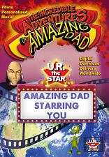 Amazing Dad Personalised Movie starring DAD as the SUPERHERO!!! DIGITAL DOWNLOAD