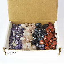 Tumbled Stone Collection 1.0lb Lots Banded Amethyst Rose Quartz Obsidian Jasper