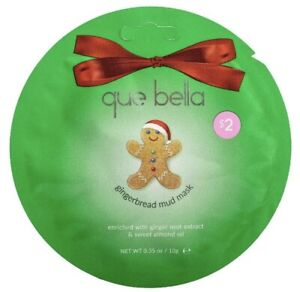 Lot of 5 Que Bella Gingerbread Mud Face Mask 0.35oz Normal/Combination/Dry Skin