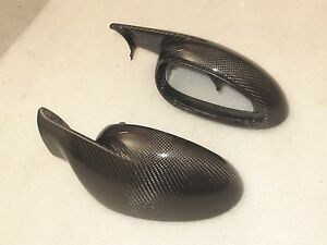 Carbon Fiber Side Mirror Cover (LHD) fit Porsche 911 997 987 MK1 Carrera cayman