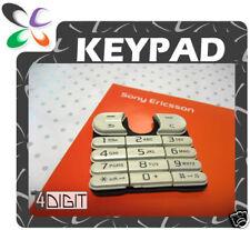WHITE Keypad Key Button Pad - Sony Ericsson W200i W200
