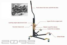 Kawasaki ZX-10R 2011 - 2014 Black Paddock Style Side Lift Front and Rear Stand