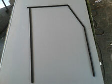 LANDROVER,DEFENDER.front door wind/up glass felt runner strips. (1side set.) new