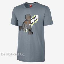 Nike Mo Bo Knows Men's 8-Bit Digital T-Shirt Gray 2XL Gym Casual Baseball New