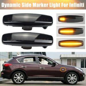 Led Dynamic Turn Signal Light Fender Indicator Blinker Lamp For Infiniti Nissan