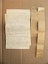 Irish American Civil War Recruit Satire Manuscript By A Notable Soldier