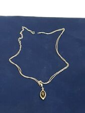 Lovely Sterling Silver And Black Onyx Teardrop Pendant Chain Necklace FAST P&P