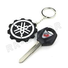 1PCS Blank Blade Motorcycle Uncut Key Keychain For YAMAHA YZF Right Slot Black