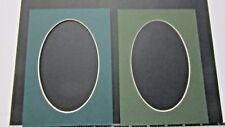Picture Frame Mats set of 2 mats 8x10 for 5x7 photo oval Dark Green Assortment