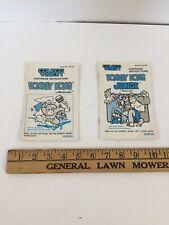 Coleco Vison Donkey Kong Junior and Donkey Kong Cartridge Instructions USA Print