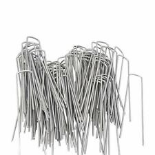 50 Pack Garden Staples Galvanized Landscape Sod Stakes Weed Barrier Fabric 6in