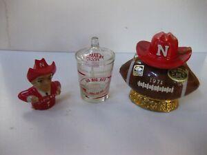 Lot of 3 Nebraska Cornhuskers Football Collectables.