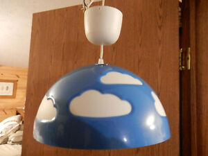 IKEA Skojig blue clouds ceiling hanging light, nice lamp!