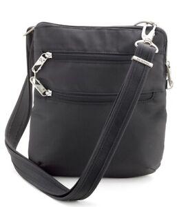 Travelon 77254 Classic Anti-Theft & RFID Safe Crossbody Bag Black