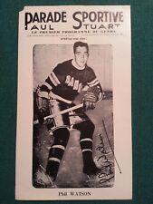 1943-48 Parade Sportive Vintage Photo - Phil Watson New York Rangers -