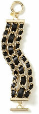 Banana Republic Women's Luxe Leather Gold Link Toggle Braclet NWT 59.50