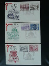 postal history mail coach horse UPU congress 1964 set of 3 FDC Austria 81639