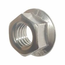 3/8-24 Stainless Steel Flange Nuts Serrated Base Lock Anti Vibration Qty 25