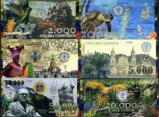 POLYMER SET El Club De La Moneda 1000;2000;5000;10000;20000;50000 2013 Colombia