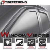 For 2007-2013 Silverado/Sierra Ext Cab Sun/Wind Guard Deflector Window Visors 4p