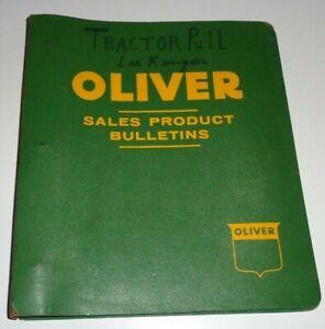 Oliver 60 Tractor Parts Catalog Book in Binder Row Crop Standard Industrial NOS!