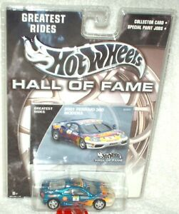 Hot Wheels 2003 Hall Of Fame Ferrari 360 Modena blue,excellent card
